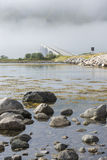 Gimsoystraumen Bridge, Lofoten, Norway Stock Photo