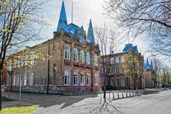Ginásio em Ventspils de Letónia imagem de stock royalty free