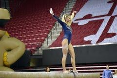 2015 ginástica das senhoras do NCAA - WVU Imagem de Stock Royalty Free