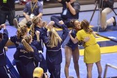 2015 ginástica do NCAA - estado de WVU-Penn Fotografia de Stock Royalty Free