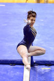 2015 ginástica do NCAA - estado de WVU-Penn Fotografia de Stock