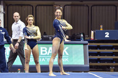 2015 ginástica do NCAA - estado de WVU-Penn Fotos de Stock