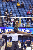 2015 ginástica do NCAA - estado de WVU-Penn Imagens de Stock Royalty Free
