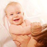 Ginástica para o bebê. Imagem de Stock