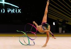Ginástica Prix grande de Rhytmic em Kiev, Ucrânia fotos de stock royalty free