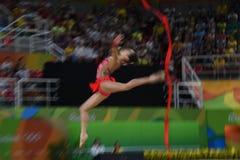 Ginástica rítmica - ícone vectorial colorido fotografia de stock