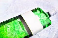 Gin auf Eis Stockfotografie