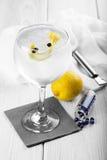 Gin e tonico su un vetro di highball fotografie stock libere da diritti