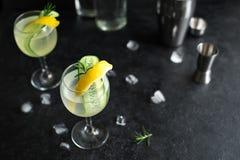 Gin Fizz Cocktail fotografía de archivo