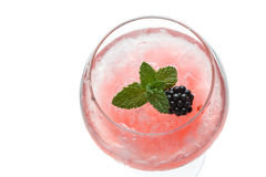 Gin hard liquorl drink with berries fruits isolated on white Stock Photo
