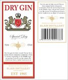 Gin Label Royalty Free Stock Photo