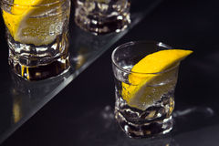 Gin with lemon Stock Photography