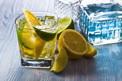 Gin with lemon Royalty Free Stock Photos