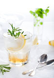 Gin,lemon, rosemary fizz, cocktail Royalty Free Stock Photos