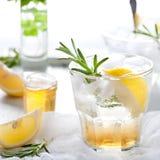 Gin,lemon, rosemary fizz, cocktail Stock Photos