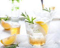 Gin,lemon, rosemary fizz, cocktail Stock Photography