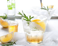 Gin,lemon, rosemary fizz, cocktail Stock Images