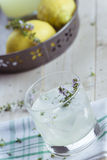 Gin lemonade with thyme Royalty Free Stock Image