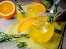 Gin and orange Royalty Free Stock Photos