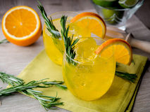 Gin and orange Royalty Free Stock Image