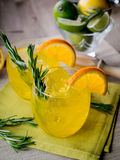 Gin and orange Royalty Free Stock Images