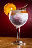 Gin tonic with cinnamon and orange Stock Photography