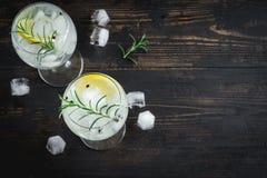 Gin Tonic-Cocktail lizenzfreie stockbilder