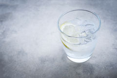 Gin and tonic cocktail. With lemon Stock Image