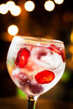 Gin Tonic. Cold Gin Tonic ready to drink stock photo