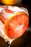 Gin Tonic. Cold Gin Tonic ready to drink royalty free stock images