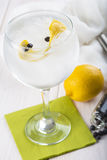 Gin and tonic on a highball glass Stock Photos