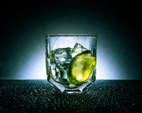 Gin & Tonic with ice and lime Royalty Free Stock Images