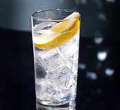 Gin Tonic or Tom Collins. Gin Tonic Tom Collins on the dance floor Royalty Free Stock Photography