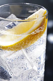 Gin Tonic or Tom Collins. Gin Tonic Tom Collins on the dance floor Royalty Free Stock Image