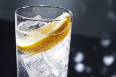 Gin Tonic or Tom Collins. Gin Tonic Tom Collins on the dance floor Stock Image