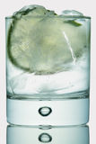 Gin tonic on white Royalty Free Stock Photography