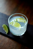 Gin Tonic wit Lime Wedges Royalty Free Stock Photography