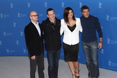 Gina Carano, Antonio Banderas, Michael Fassbender Royalty Free Stock Photography