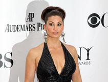 Gina Gershon. Film and stage and television actress Gina Gershon arrives at the red carpet for Broadways's Tony Awards in Manhattan's Radio City Music Stock Image