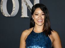 Gina Rodriguez. At the Los Angeles premiere of `Annihilation` held at the Regency Village Theater in Westwood, USA on February 13, 2018 Stock Photo