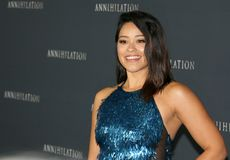 Gina Rodriguez. At the Los Angeles premiere of `Annihilation` held at the Regency Village Theater in Westwood, USA on February 13, 2018 Stock Images