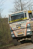 Ginaf Rally Truck. Dakar Series Central Europe Rally Stage 2 - Monday 21 April 2008 Baia Mare Romania. Ginaf truck driving on route Royalty Free Stock Photo