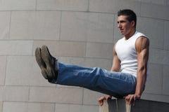 Ginasta muscular 'sexy' Imagem de Stock