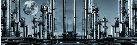 Ginat oil and gas panoramic stock photography
