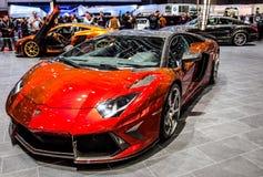 Ginebra Motorshow 2012 - albañilería Lamborghini Imagen de archivo