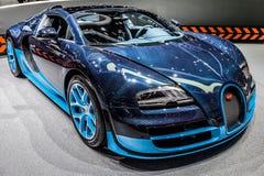 Ginebra Motorshow 2012 - deporte magnífico de Bugatti Veyron Imagenes de archivo