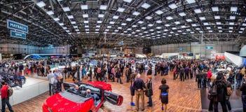 Ginebra Motorshow 2012 - exposición pasillo panorámico Fotografía de archivo