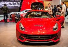 Ginebra Motorshow 2012 - Ferrari F12 Berlinetta Foto de archivo libre de regalías