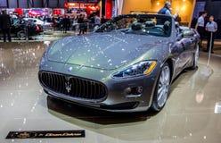 Ginebra Motorshow 2012 - Maserati GranCabrio Foto de archivo