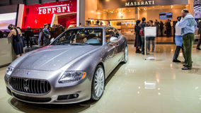Ginebra Motorshow 2012 - Maserati Quattroporte S Fotos de archivo